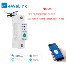 eWelink 1P 18mm WiFi remote control circuit breakerSmart din rail switch compatiable with Alexa and google home for Smart Home