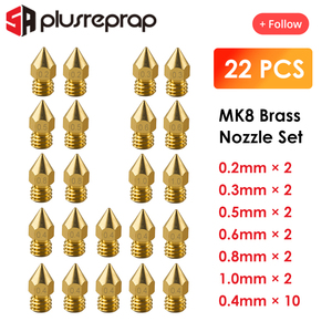 22PCS MK8 Nozzle Head Printer Extruder for1.75mm A8 Makerbot MK8 Creality CR-10 Ender 3 Nozzle Optional MK8 Makebot 3D Printer(China)