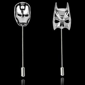 Новая мода DC супергерой Бэтмен Маска воротник булавка Мстители Железный человек нагрудные булавки экшн комиксы Marvel косплей для мужчин фанатов