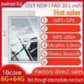 202 планшетный ПК 10 дюймов 4 ядра оригинальный мощный Android8.0 6 ГБ Оперативная память 64 Гб Встроенная память IPS Двойная sim-карта Телефонный звоно...