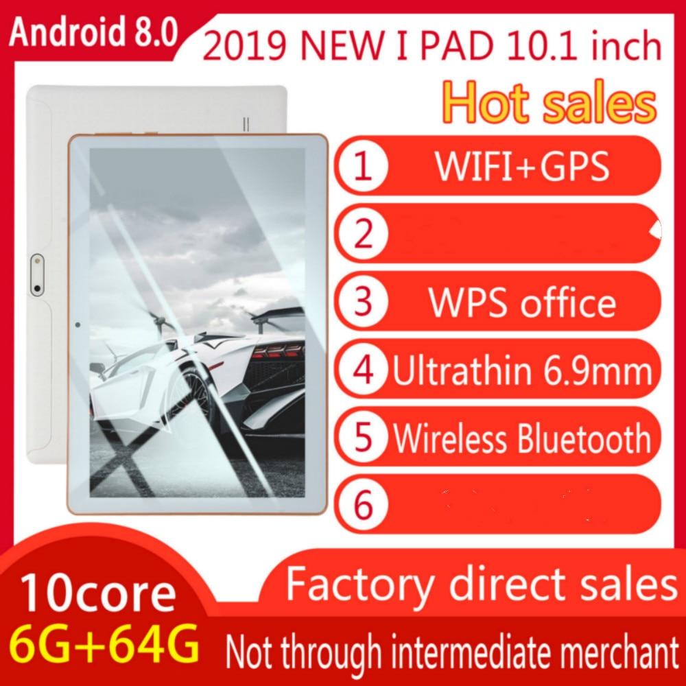202 10 Inch Tablet Pc Quad Core Original Powerful Android8.0 6GB RAM 64GB ROM IPS Dual SIM Phone Call Tab Phone Pc Tablets