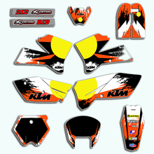 decal for ktm 2019 sx sxf 125 150 250 350 450 racing motorcycle dirt bike sticker graphic for ktm sx f 125-450 SX 2005 2006 Customized Graphics & Backgrounds Stickers Kit Decal For KTM SX 125 150 200 250 300 350 450