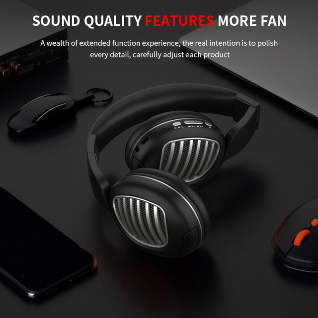 Wireless Bluetooth 5.0 Noise Cancelling Headphone Stereo -Foldable -Gaming Headset  3