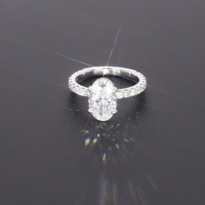 Image 1 - Starszuan תכשיט 14K DEF סגלגל לחתוך 8*10mm 3ct moissanite מבחן חיובי VVS מפואר אירוסין טבעת עבור אישה