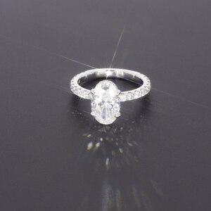Image 1 - Starszuan Gioiello 14K DEF taglio ovale 8*10 millimetri 3ct moissanite test positivo VVS fantasia anello di fidanzamento per donna
