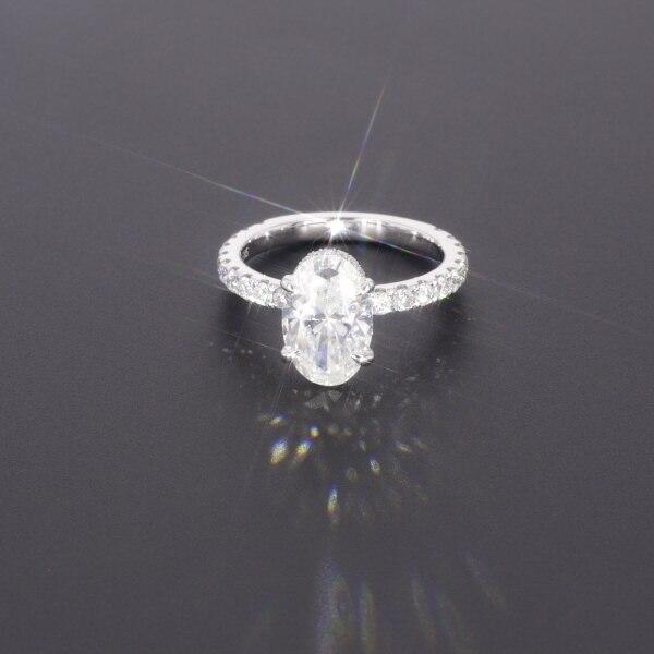 Starszuan Gioiello 14K DEF taglio ovale 8*10 millimetri 3ct moissanite test positivo VVS fantasia anello di fidanzamento per donna
