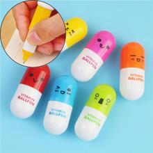 Capsule Pill Style Novelty Creative Pen Ballpoint Pens Office School Stationery Supplies for Students Kids Girls by TheBigThumb 6pcs novelty capsule ballpoint pen cute vitamin pill blue color ink pens for writing stationery office school accessories a6205