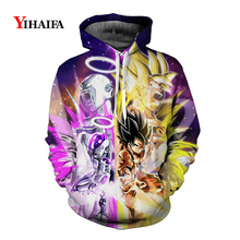 Newest Dragon Ball Z Super Saiyan Anime Hoodies 3D Sweatshirt Womens Mens Cartoons Graphic Print Pullover Tracksuit Coat Tops