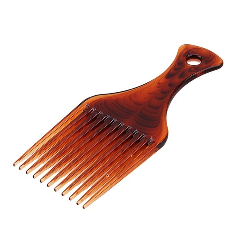 Винтажная модная пластиковая расческа для вьющихся волос, Профессиональная парикмахерская расческа для укладки волос с длинными зубами, 1
