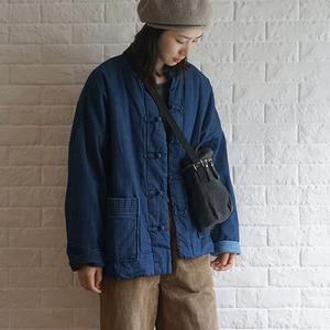 Image 3 - Johnature invierno ocio moda Stand Collar placa hebilla bolsillos grueso Denim chaqueta 2020 nuevo All match cómodo mujeres abrigos