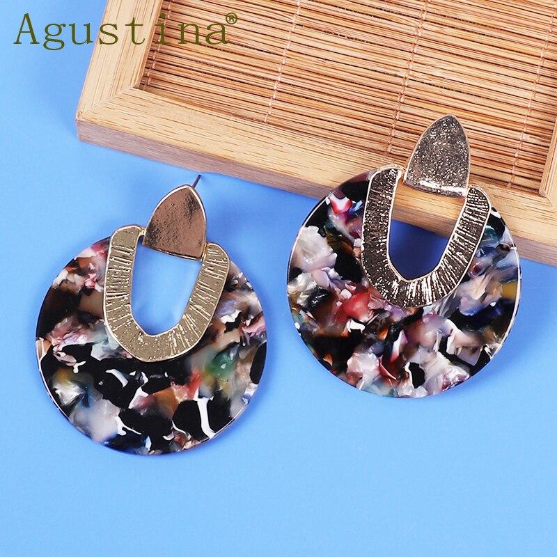 2020 Acrylic Fashion Earrings For Women Pendientes Earrings Jewelry Drop Earrings Geometric Round Big Girls Punk Earings Boho CC