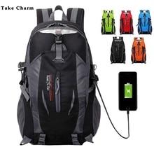 Sac à dos de voyage étanche en Nylon de capacité moyenne, pour hommes et femmes, avec chargeur USB, pour Sport, alpinisme, 2020