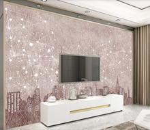 Custom wallpaper city night scene modern minimalist background wall painting 3D wallpaper 3d night scene door sticker