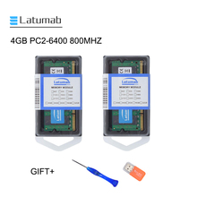 Latumab 4GB 8GB DDR2 800mhz PC2 6400 Laptop Memory SoDimm Memory Ram 200 Pins High Quality Notebook Module SODIMM 1.8V RAM jzl laptop memory module ram sdram ddr2 533 667 800 mhz 200pin 2gb so dimm ddr 2 pc2 4200 5300 6400 notebook computer sodimm