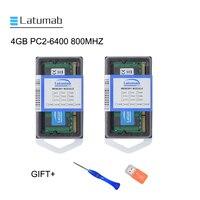 Latumab 4GB 8GB DDR2 800mhz PC2 6400 Laptop Memory SoDimm Memory Ram 200 Pins High Quality Notebook Module SODIMM 1.8V RAM