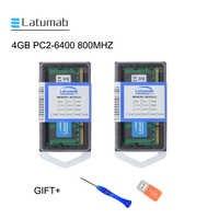Latumab 4GB 8GB DDR2 800mhz PC2 6400 di Memoria Del Computer Portatile di Memoria SoDimm Ram 200 Spilli Notebook di Alta Qualità modulo SODIMM 1.8V di RAM