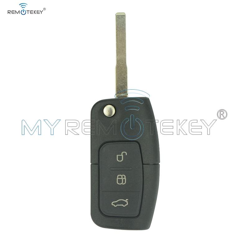 Balik Remote Kunci Mobil Untuk Ford B-Max Fiesta Fokus Galaxy Kuga S-Max 2008 2009 2010 2011 ID63 Chip 433 Mhz 3M5T 15K601 AB Remtekey
