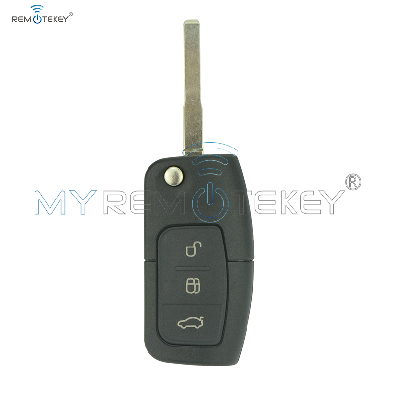 Flip Дистанционен ключ за автомобил за Ford B-Max Fiesta Focus Galaxy Kuga S-Max 2008 2009 2010 2011 ID63 Чип 433 Mhz 3M5T 15K601 AB Remtekey