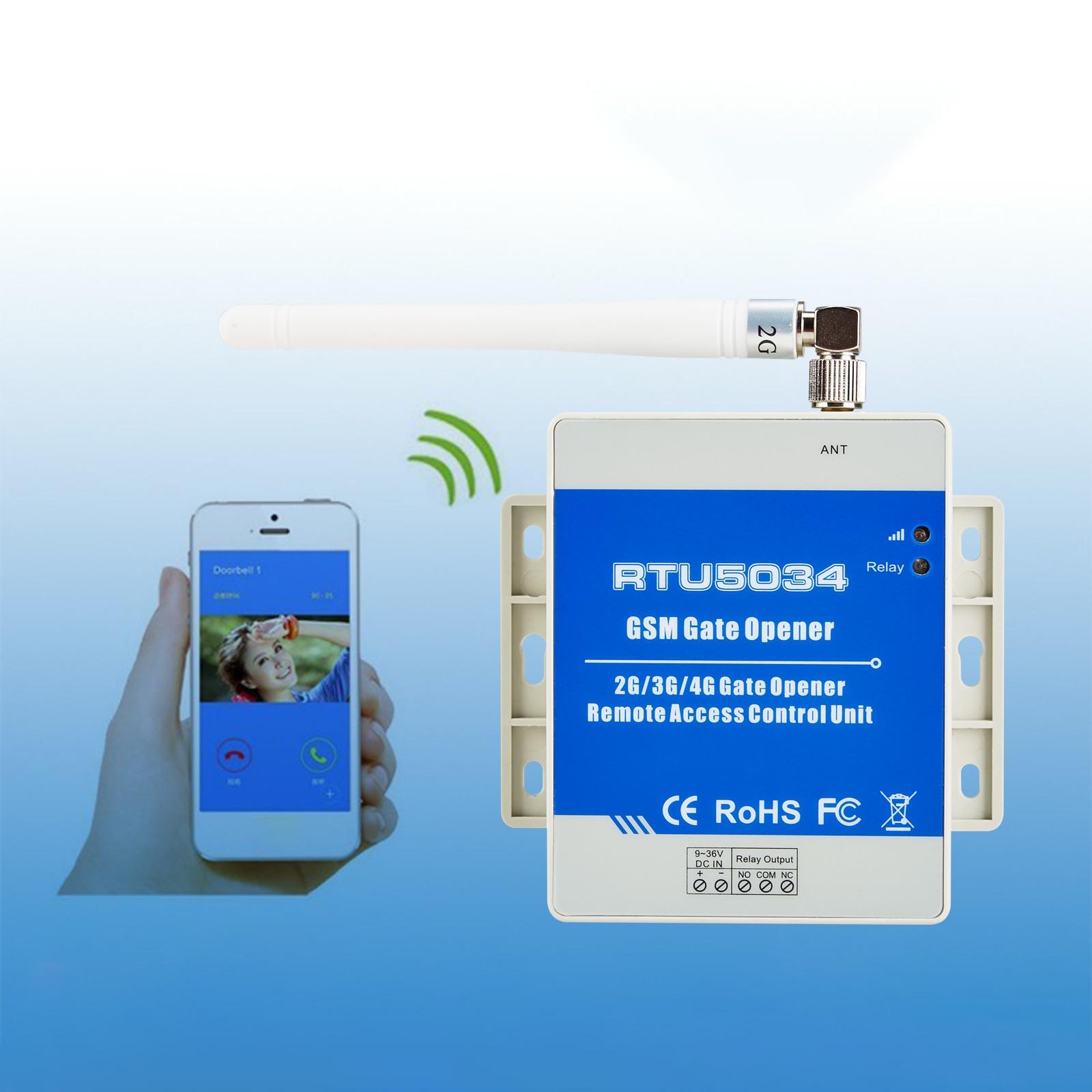 GSM Garage Door Opener Remote Control Automatic Door Gate Control Board sliding door motor Control unit RTU5034 3G Optional