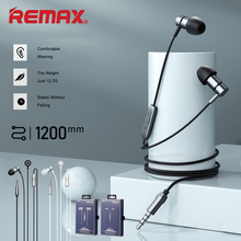 REMAX Headphones Wire Control With Wheat Earphone Intelligent Noise Reduction Headset HIFI Level Sound Quality Wired Earphone