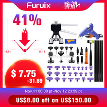 Furuix  Auto Body Paintless Dent Removal Tools Kit Dent Lifter Bridge Puller Set For Car Hail Damage And Door Dings Repair