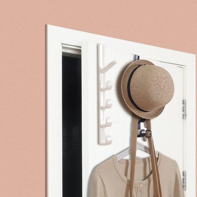 Estantes de ganchos para puerta perforados, colgador de pared creativo para el hogar, colgador de ropa
