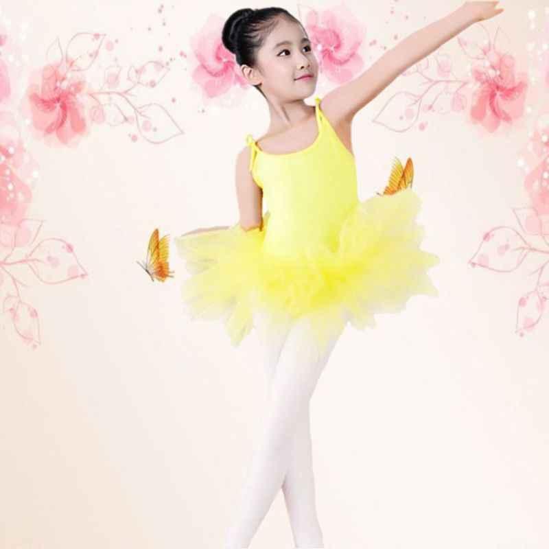 เด็กผู้หญิงเด็กวัยหัดเดินบัลเล่ต์ชุดเต้นรำชุดยิมนาสติกสเก็ต Leotards ชุด 4 สีสาวเสื้อผ้า