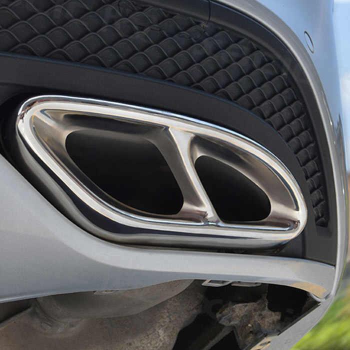 ملحقات سيارة AMG لغطاء العادم من الفولاذ 2016 عالية الجودة لسيارة Mercedes Benz GLC A B C eclas W205 كوبيه W213 W176 W246 304-17