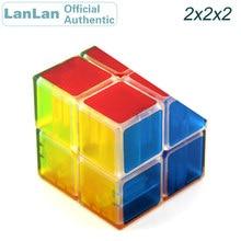 LanLan 2x2x2 Magic Cube 2x2 Transparent Cubo Magico Professional Speed Puzzle Antistress Educational Toys For Children lanlan bread cube 7 7 7 magic cube puzzle cube educational toys 83mm