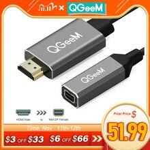 QGeeM HDMI zu Mini DisplayPort Konverter Adapter Kabel 4K x 2K HDMI zu Mini DP Adapter für HDMI ausgestattet Systeme Mini DP auf HDMI