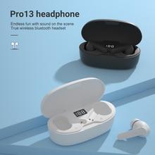 Tws sem fio fones de ouvido bluetooth5.0 compatível fone de ouvido esporte impermeável earburds fones de ouvido sem fio estéreo baixo com microfone