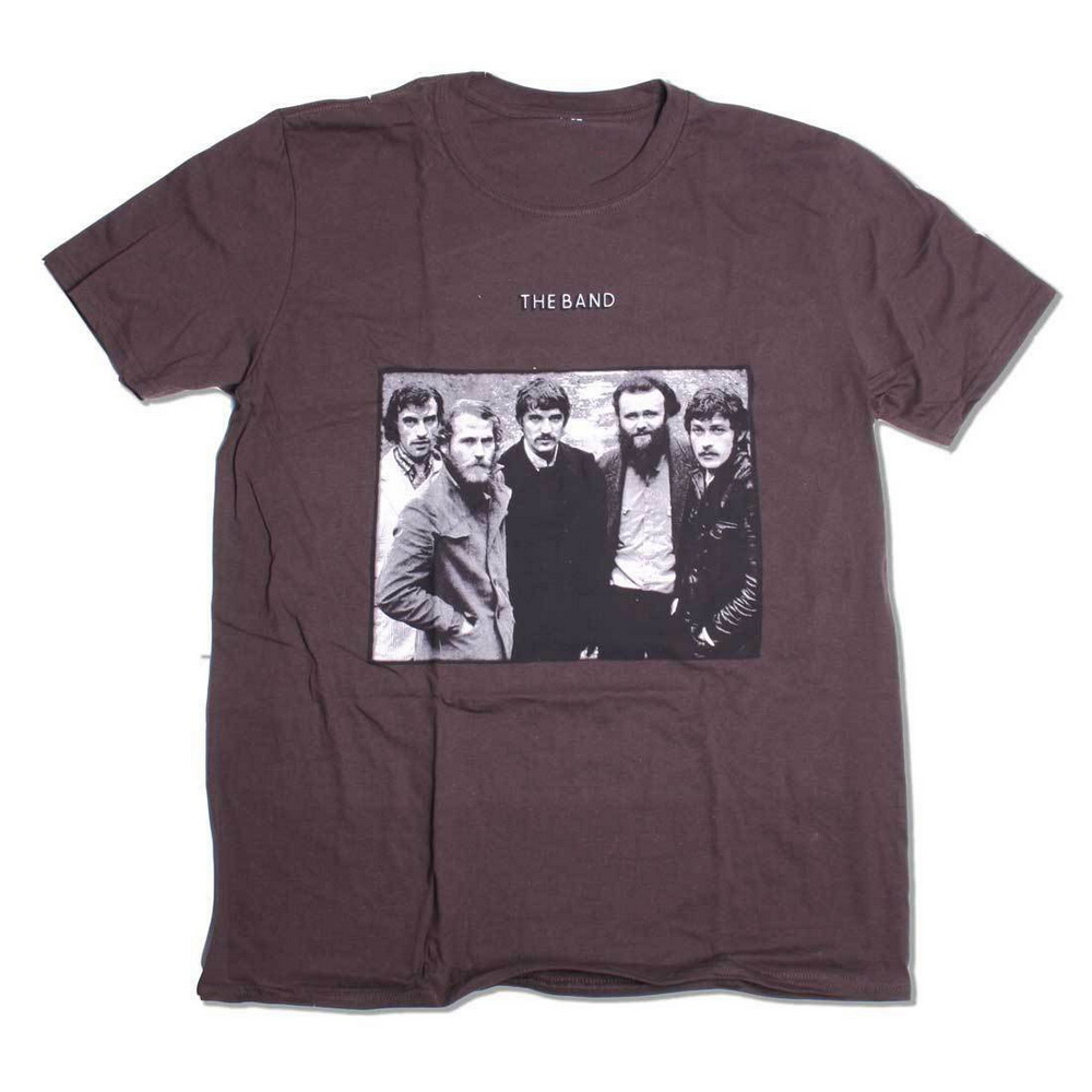 The Band T-Shirt First Album 100% Official Bob Dylan Robbie Robertson Americana Cotton Fitness Plus Size Tee Shirt image