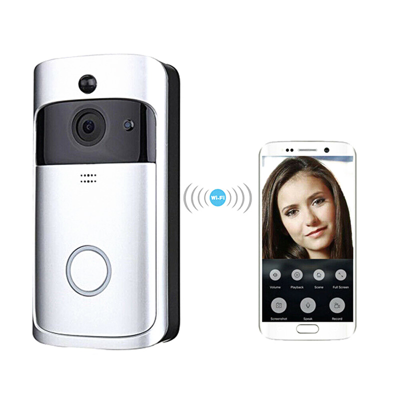 WiFi Smart Video Doorbell HD Security Camera Wireless Intercom PIR Wide-Angle For Home AS99