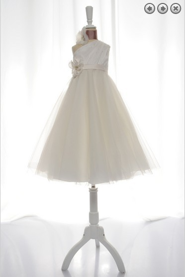 Free Shipping Flower Girl Dresses For Weddings 2016 First Communion Dress Christmas Pageant Dresses For Little Girls White