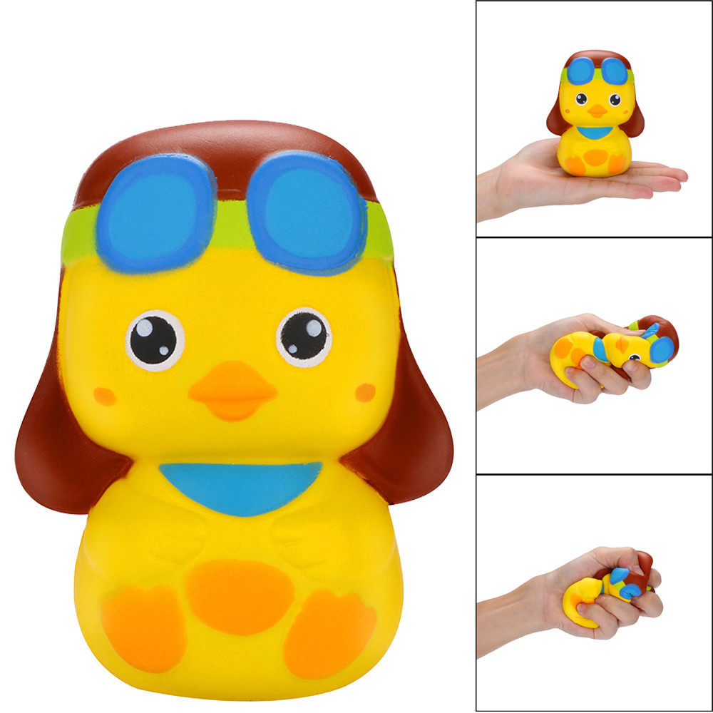 Cute Little Duck Slow Rebound Toy Scented Squishies Slow Rising Kids Toys Stress Relief Toy For Children Gift L0116