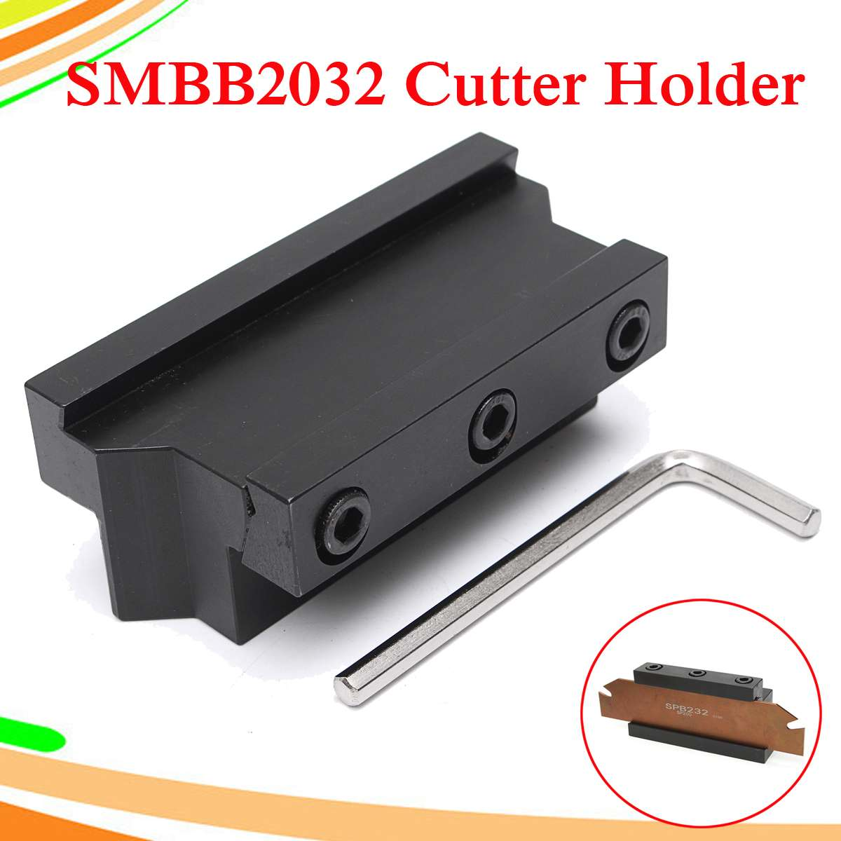 SMBB2032 Grooving Cut Off Blade Holder CNC Milling Cutter Holder For SPB32 Blade