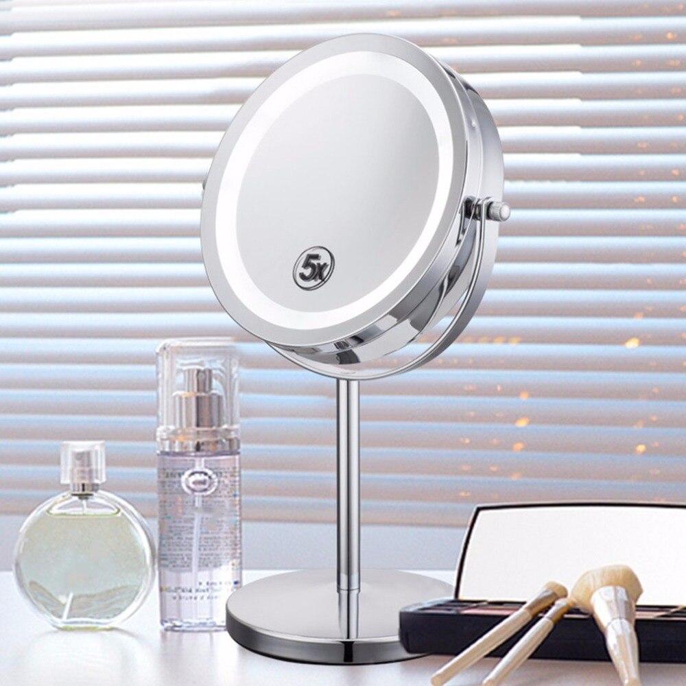 HOT 5X Ampliação Maquiagem Facial Cosméticos Espelho