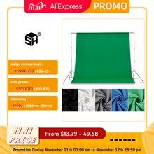 Tela verde backdrops fotografia verde/branco/preto/azul/cinza musselina poliéster algodão fundo profissional para estúdio de fotos