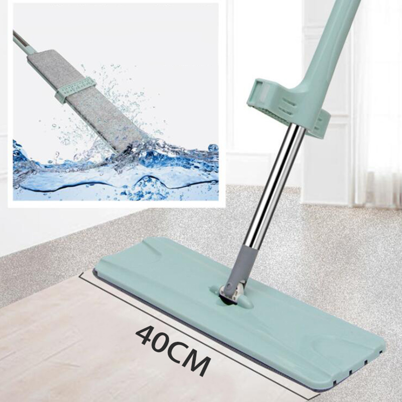 Free Hand Washing Floor Mop With Spin Lazy Flat Mop Rag For Microfiber Pad Cleaning Kitchen Home Mop 360 Rotating Magic Mop
