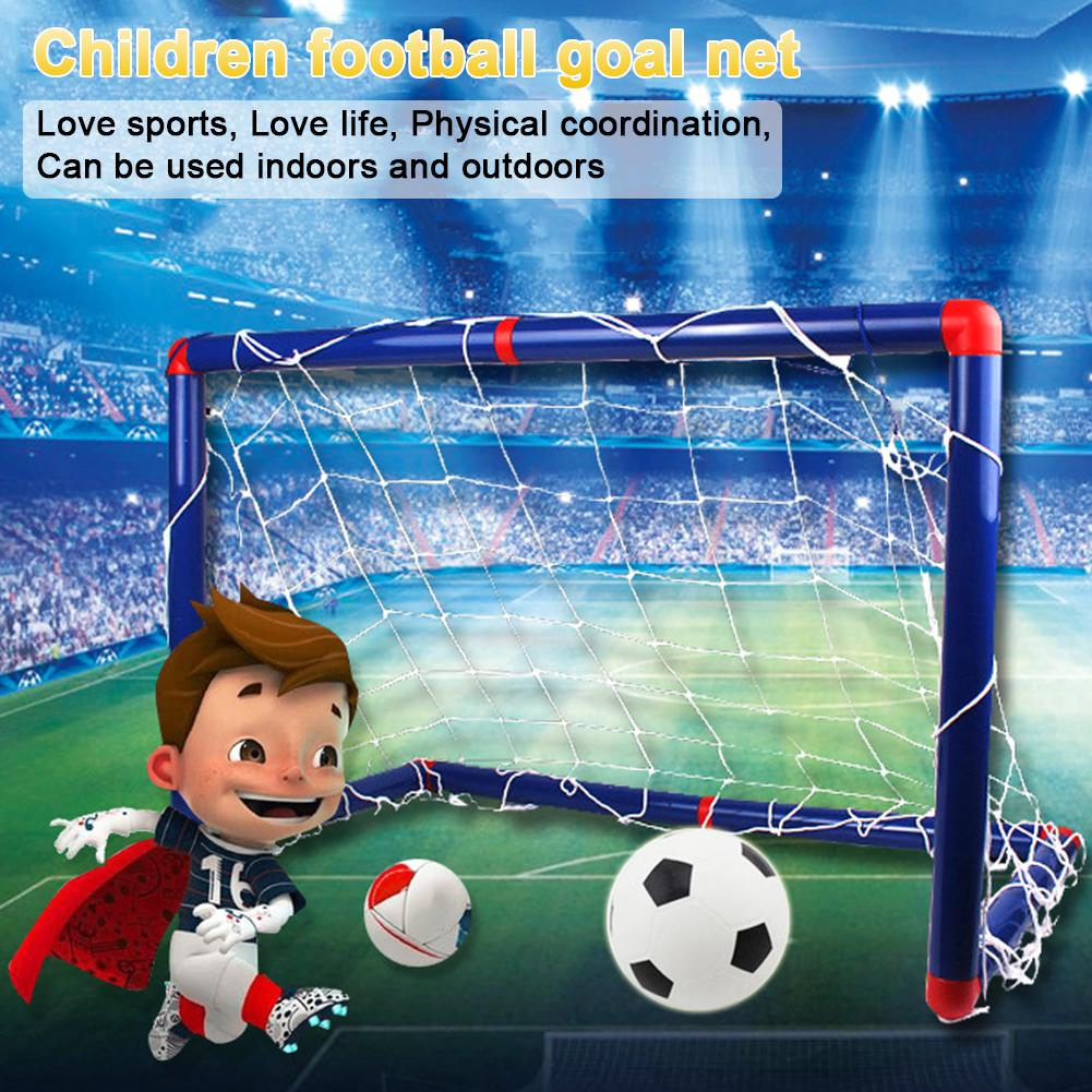 Kids Sports Soccer Toy Set With Ball Pump Goal Net Football Toy Set Nylon Material For DIY Indoor Outdoor Practice Set