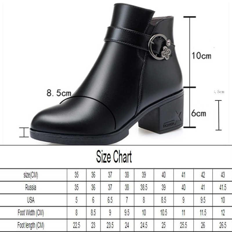 AIYUQI kadın botları 2020 yeni kış ayakkabı büyük boy 41 42 43 kadın kar botları orta topuk yarım çizmeler kadın