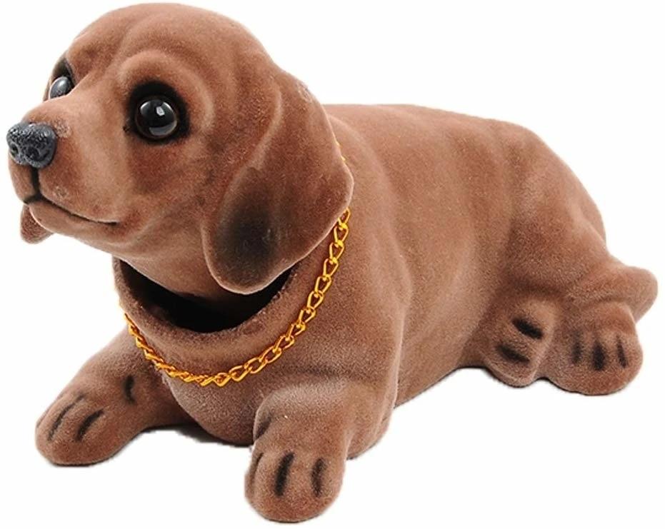 Details about  /Head Dog Car Dashboard Doll Auto Shaking Head Toy Ornaments Hot Dog Nodding K2O7