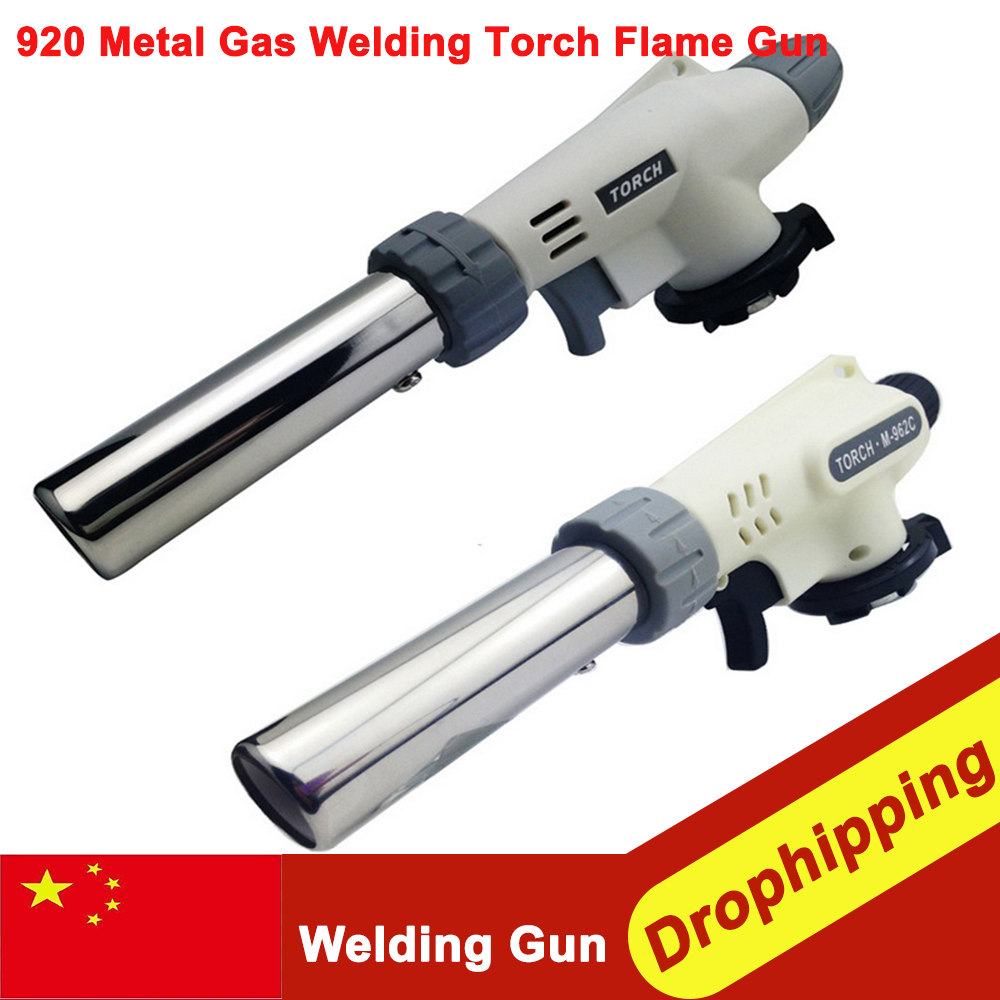 920 Metal Gas Welding Torch Flame Gun Ignition Lighter Butane Portable Gas Camping Gas Welding Torch Camping Hiking DropShipping