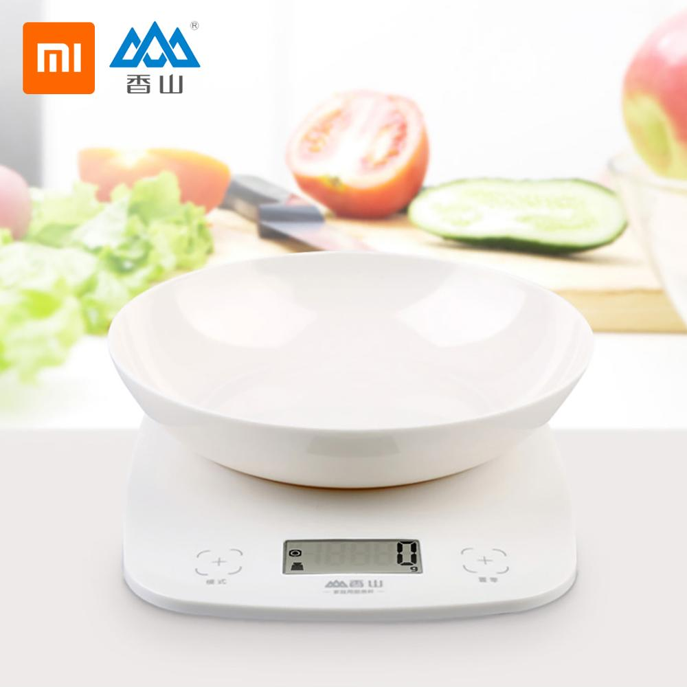 Xiaomi SENSSUN LCD Electronic Kitchen Scale Ultrathin Digital Scale With Tray Bake Tool Precision Weighing Of Food, Flour, Milk