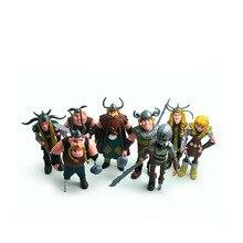 цена на 10 -13 Cm Dragon 2 Doll Ornaments 8 -piece Set Of A Film Model Hand To Make The Toys Doll