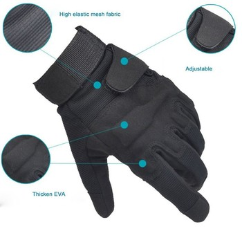 Tactical Full Finger Gloves Outdoor Sports Bicycle Antiskid Gloves Military Army Paintball Shooting Airsoft Cycling Half Glove 4