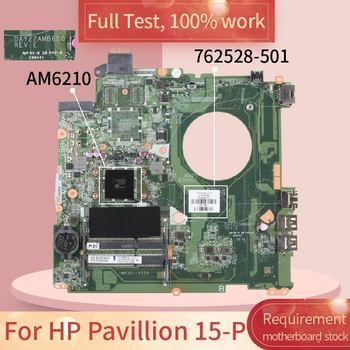 762528-601 For HP Pavillion 15-P DAY22AMB6E0 762528-501 AM6210 DDR3 Notebook motherboard Mainboard full test 100% work