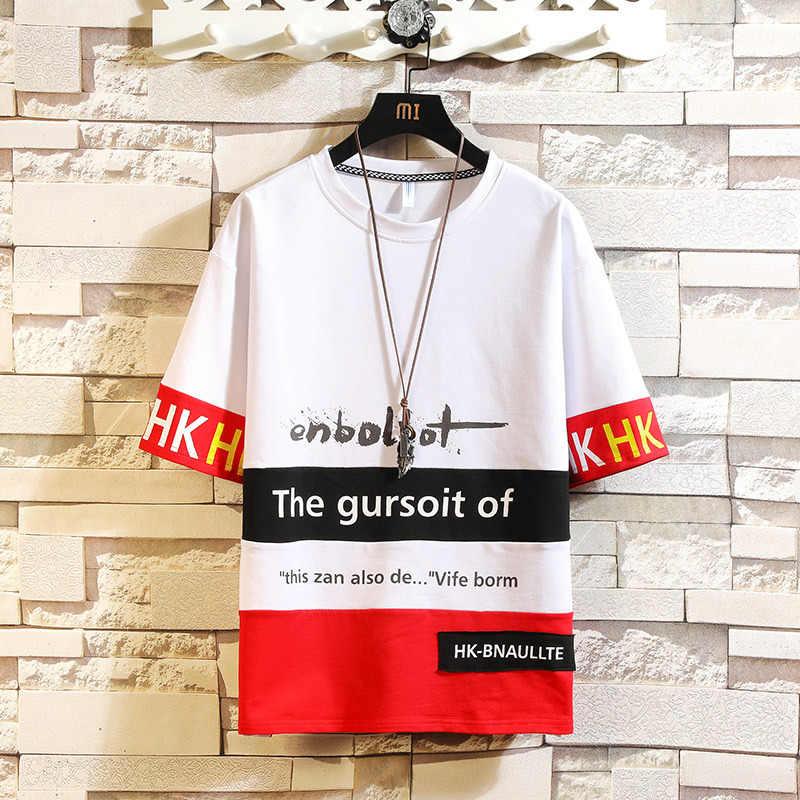 Zomer 2020 Han Editie Studenten Knappe Mannen Leisure Suit Met Korte Mouwen T-shirt Negen Punten Set Twee Stuk Mannelijke