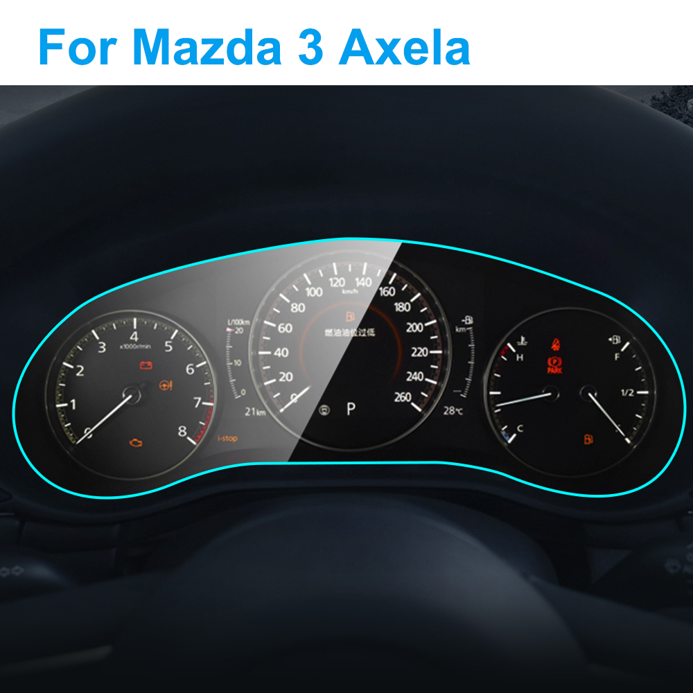 For Mazda 3 Axela 2020 Interior Car Instrument Panel Screen Protector Car Dashboard Membrane Protective TPU Film Accessories