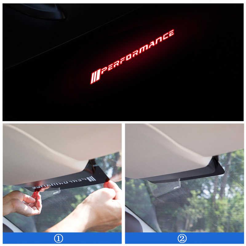 LQY araba çıkartmaları akrilik fren lambaları için dekoratif kapak BMW M f30 f10 e46 e90 e92 e91 E36 F30 G30 G31 g38 G11